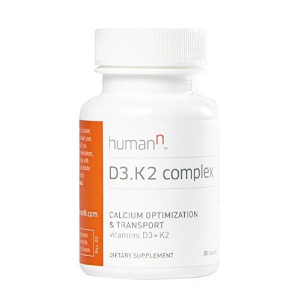 HumanN Calcium Supplement 3 HumanN Vitamin D3 and K2 Complex - Supports Immune, Respiratory, Lung, and Bone Health - Dietary Supplement - Fast Melt Tablets - 30 Count - from The Makers of SuperBeets