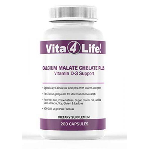 Vita4Life Calcium Supplement 1 Vita4life, 300 Mg, Calcium Malate Chelate 'Plus' Vitamin D3 Support - 260 Count