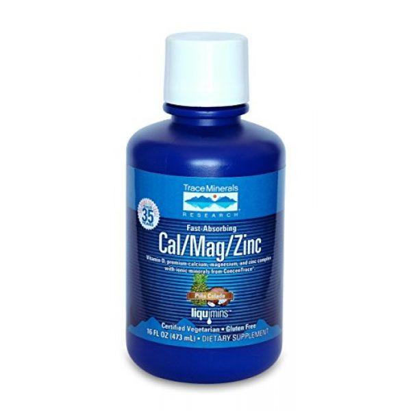 Trace Minerals Research Calcium Supplement 1 Trace Minerals Liquid Cal/Mag/Zinc, 16-Ounce