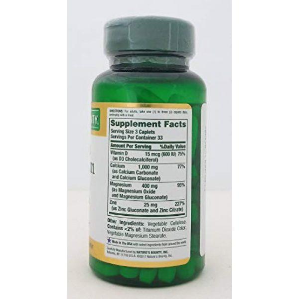 Nature's Bounty Calcium Supplement 2 Nb VIT Cal/Mag/Zinc Size 100s Nature's Bounty Calcium-Magnesium-Zinc Caplets 100 Count