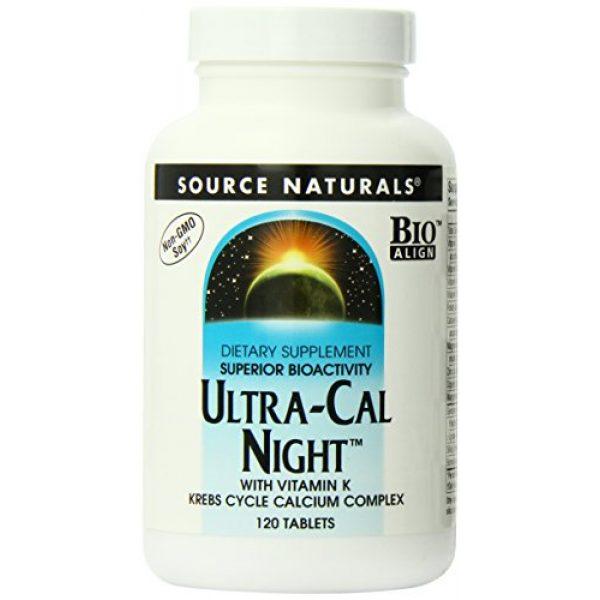 Source Naturals Calcium Supplement 1 Source Naturals Ultra-Cal Night With Vitamin K - Krebs Cycle Calcium Complex - 120 Tablets