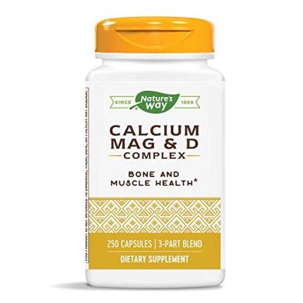 Nature's Way Calcium Supplement 4 Nature's Way Calcium, Magnesium and Vitamin D, 250 Capsules