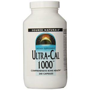 Source Naturals Calcium Supplement 1 Source Naturals Ultra-Cal 1000, Comprehensive Bone Health, 240 Capsules