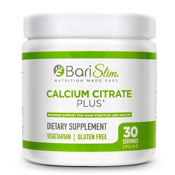 Bari Slim Calcium Supplement 1 BariSlim Bariatric Calcium Citrate Plus with Magnesium and Vitamin D - 600 mg of Calcium Citrate Per Serving - Formulated for Patients After Weight Loss Surgery - 30 Servings
