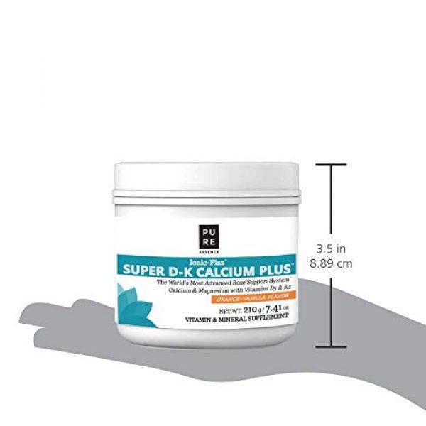 PURE ESSENCE LABS Calcium Supplement 6 Pure Essence Ionic Super D-K Calcium Plus by Pure Essence - With Extra Magnesium, Vitamin D3, Vitamin K2 For Strong Bones and Stress Relief - Orange Vanilla - 7.41oz