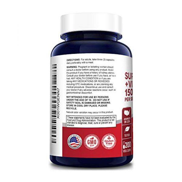NusaPure Calcium Supplement 3 Super Calcium 1500mg with Vitamin D 1000IU 200 Veggie Powder Caps (Non-GMO & Gluten Free) Helps to Prevent Bone Loss, Osteoporosis