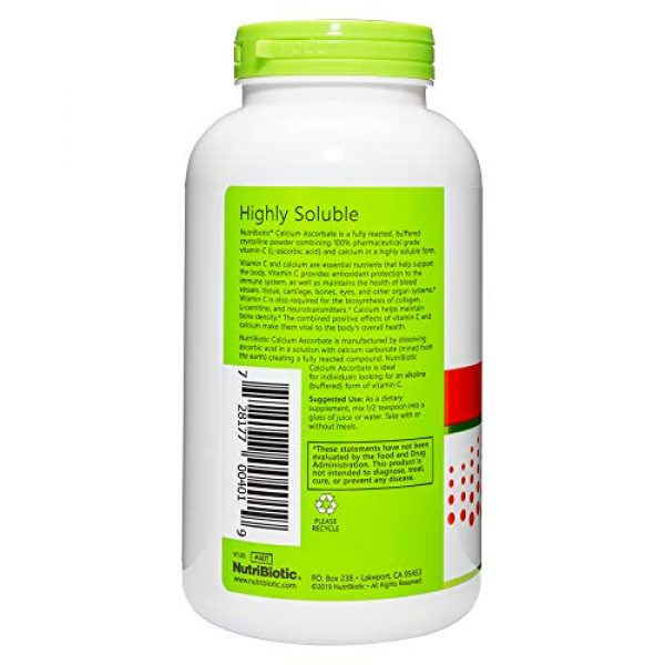 Nutribiotic Calcium Supplement 2 Nutribiotic Calcium Ascorbate Powder, 16 Ounce