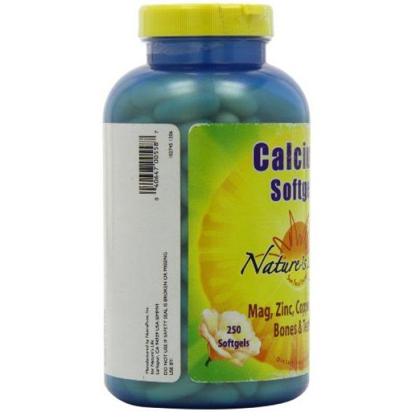 Nature's Life Calcium Supplement 7 Nature's Life Calcium Softgels, 1000 Mg, 180 Count
