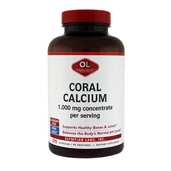 Olympian Labs Calcium Supplement 1 Olympian Labs Coral Calcium, 1g Per Serving, 1000 mg, 270 Capsules