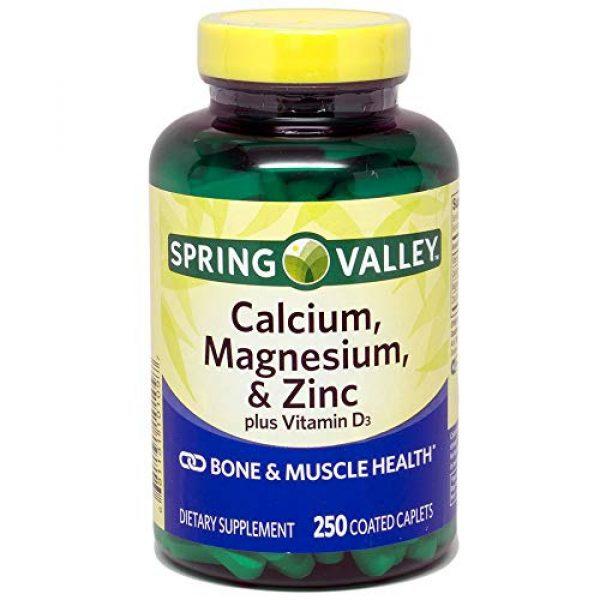 Spring Valley Calcium Supplement 1 Spring Valley - Calcium Magnesium and Zinc, Plus Vitamin D3, 250 Coated Caplets