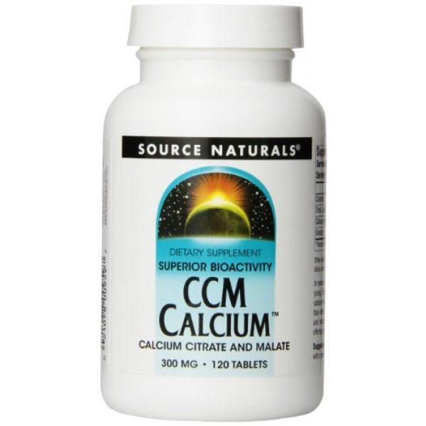 Source Naturals Calcium Supplement 1 CCM Calcium 300 mg 60 Tablet (Pack of 3)