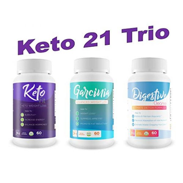Keto 21 Calcium Supplement 6 Keto Fit - Keto Weight Loss - Burn Fat - Increase Energy - Balance Hormones - Help to induce Ketosis Faster to Start Burning Fat Sooner! Feel The Power of Keto Weight Loss!