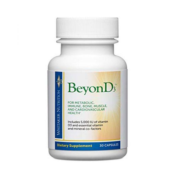 Dr. Whitaker Calcium Supplement 1 Dr. Whitaker's BeyonD3 - Vitamin D3 Supplement 5,000 IU Plus Boron, Vitamin K2, Magnesium & Zinc - Supports Immune Health, Calcium Metabolism & Bone Mineralization (30 Capsules)