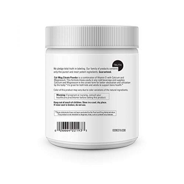 DaVinci Laboratories of Vermont Calcium Supplement 4 Davinci Laboratories - Cal-mag Citrate Powder, Bone Health Supplement, 30 Servings, Vegetarian