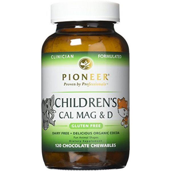 Pioneer Nutritional Formulas Calcium Supplement 1 Pioneer Nutrition Children's Calcium Magnesium & D Chocolate Supplements, 120 Count