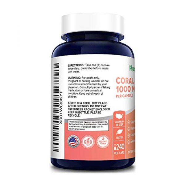 NusaPure Calcium Supplement 3 Coral Calcium 1000 mg 240 Veggie Caps (Non-GMO & Gluten-Free) Supports Bone Health & PH Levels*- Contains Magnesium, 73 Minerals and Vitamin D3
