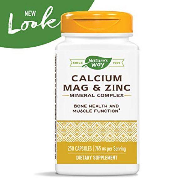 Nature's Way Calcium Supplement 3 Nature's Way Calcium, Magnesium & Zinc, 765 mg per Serving, 250 Capsules