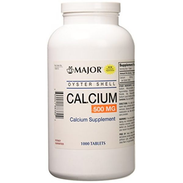 Major Pharmaceuticals Calcium Supplement 1 Oyster Shell Calcium Tablets, 500mg, 1000ct