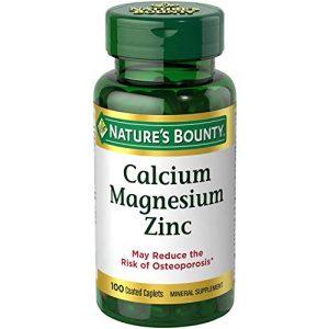 Nature's Bounty Calcium Supplement 1 Nature's Bounty Calcium-Magnesiuim-Zinc, 200 Caplets
