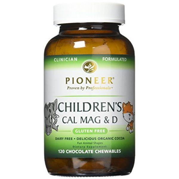 Pioneer Nutritional Formulas Calcium Supplement 3 Pioneer Nutrition Children's Calcium Magnesium & D Chocolate Supplements, 120 Count