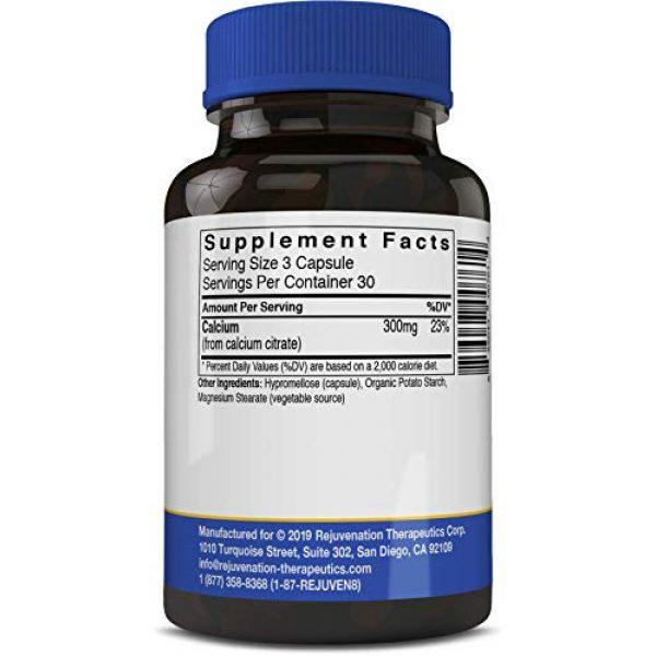 Rejuvenation Therapeutics Calcium Supplement 2 Rejuvenation Therapeutics Calcium Citrate Dietary Supplement, Bone Health Capsules for Osteoporosis (90 Vegan Capsules)