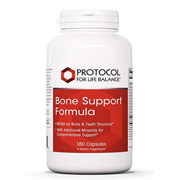 Protocol For Life Balance Calcium Supplement 1 Protocol For Life Balance - Bone Support Formula - with Magnesium and Vitamins C, D, K2 to Support Bone and Teeth Structure, Bone Density, Calcium Absorption, and Joint Pain Relief - 180 Capsules