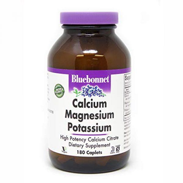 BlueBonnet Calcium Supplement 1 BlueBonnet Calcium Magnesium Plus Potassium Caplets, 180 Count (743715007116)
