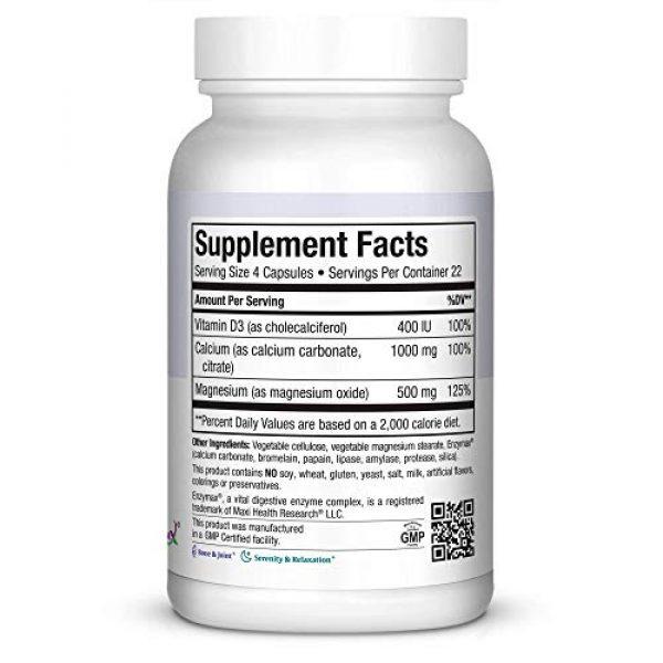 Maxi Health Calcium Supplement 2 Maxi Cal Calcium Magnesium D3 Complex 90 Count Bottle
