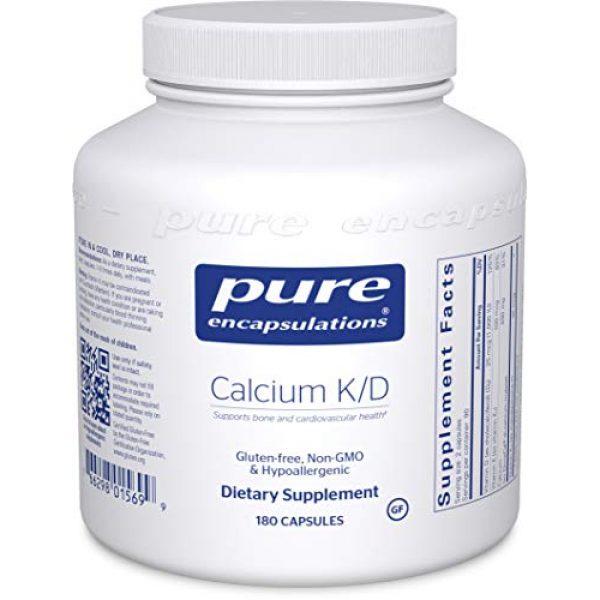 Pure Encapsulations Calcium Supplement 1 Pure Encapsulations Calcium K/D | Supplement for Bone Strength, Immune System, Colon, and Cardiovascular Health* | 180 Capsules