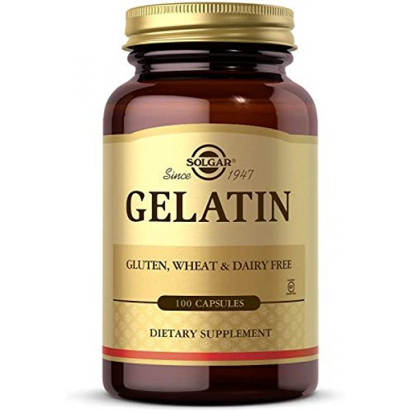 Solgar Calcium Supplement 1 Solgar Gelatin 1680 mg, 100 Capsules - Natural Gelatin - Supports Bone, Joint & Skin Health - Gluten Free, Dairy Free - 33 Servings