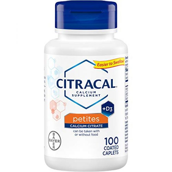 CITRACAL Calcium Supplement 2 Citracal Petites Tablets with Vitamin D 100 Tablets (Pack of 3)