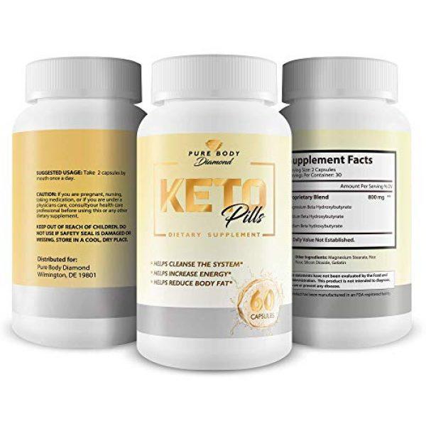 Pure Body Diamond Calcium Supplement 4 Pure Body Diamond Keto Pills - Keto Boost - Accelerate Ketosis - Burn More Fat - Burn Fat Faster - Keto Pills for Women, Keto Pills for Men - Feel The Keto Power of Bhb exogenous Ketones Capsules