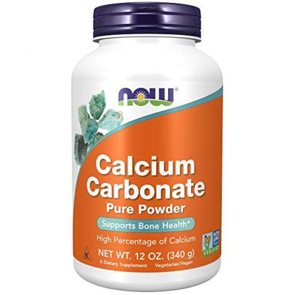 NOW Foods Calcium Supplement 1 NOW Supplements, Calcium Carbonate Powder, High Percentage of Calcium, Supports Bone Health*, 12-Ounce