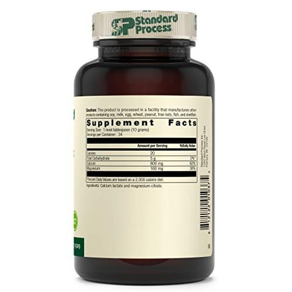 Standard Process Calcium Supplement 2 Standard Process Calcium Lactate Powder - Immune Support and Bone Strength - Bone Health and Muscle Supplement with Magnesium and Calcium - 12 Ounces