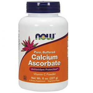 NOW Foods Calcium Supplement 1 NOW Supplements, Calcium Ascorbate Powder, Buffered, Antioxidant Protection*, 8-Ounce