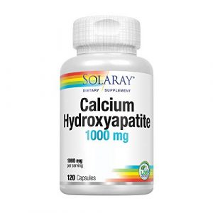 Solaray Calcium Supplement 1 Solaray Calcium Hydroxyapatite 1000mg | Highly Advanced Calcium Supplement to Help Support Healthy Bones & Teeth, Nerve & Muscle Function | 120 Caps