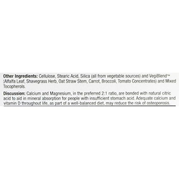 Veglife Calcium Supplement 4 VegLife Cal-Mag Citrate Plus D Vegan Tablet, 500 mg, 90 Count