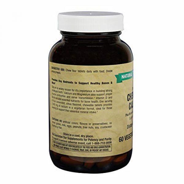 Natural Vitamin Co. Calcium Supplement 2 Natural Vitamin Co. - Chewable Calcium 1,000mg Plus Magnesium 500mg, Vitamin D3 200IU, and Boron 400mcg, Natural Citrus Flavor, 60 Tablets, 15 Day Supply, Gluten Free, Vegetarian