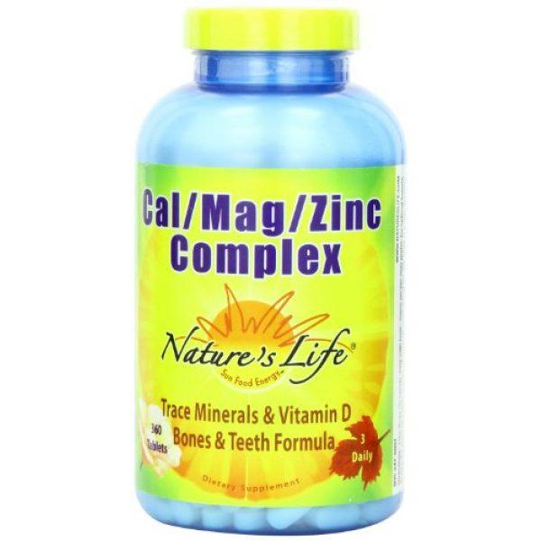 Nature's Life Calcium Supplement 1 Nature's Life Cal/Mag/Zinc Tablets, 1000/600/15 Mg, 360 Count