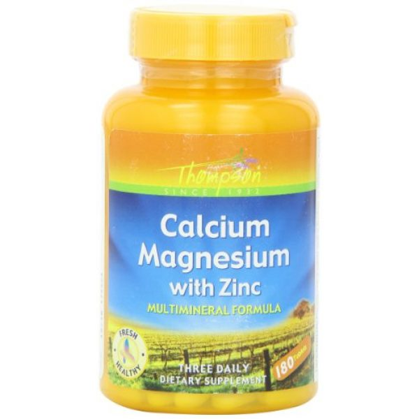 Thompson Calcium Supplement 1 Thompson Cal Mag with Zinc Tablets, 1000/400/15 Mg, 180 Count