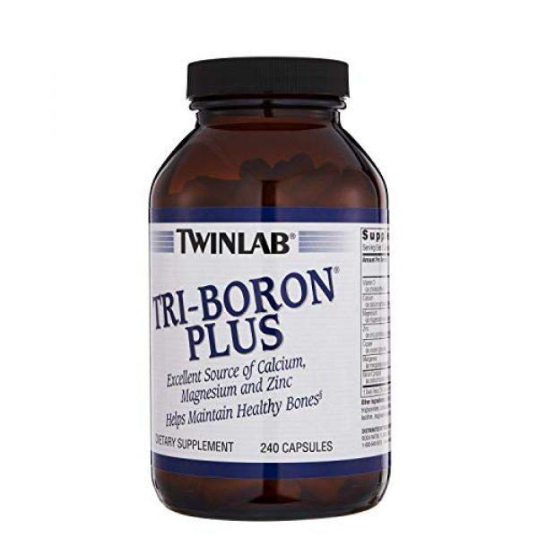 Twinlab Calcium Supplement 2 TwinLab Tri-Boron Plus, Magnesium, Vitamin D, Calcium, Dietary Supplements, 3mg, 240 Capsules, Healthy Bones