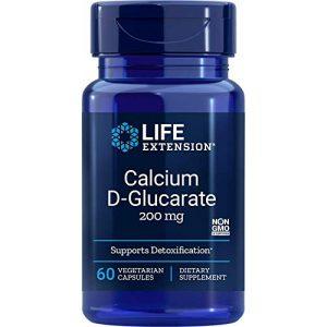 Life Extension Calcium Supplement 1 Life Extension Calcium D-Glucarate 200 Mg, 60 vegetarian capsules