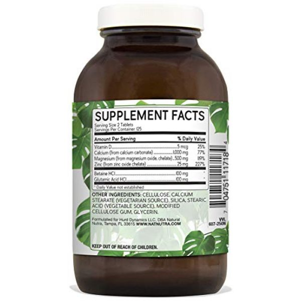 Natural Nutra Calcium Supplement 2 Natural Nutra Calcium Magnesium Zinc Supplement with Vitamin D3 for Bone Strength, Healing and Health, Gluten Free and Sugar Free, Essential Mineral Complex, 1000/500/25 mg (250 Count)