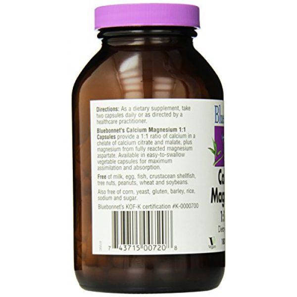 BlueBonnet Calcium Supplement 3 BlueBonnet Calcium Magnesium 1:1 Ratio Vegetarian Capsules, 180 Count, White