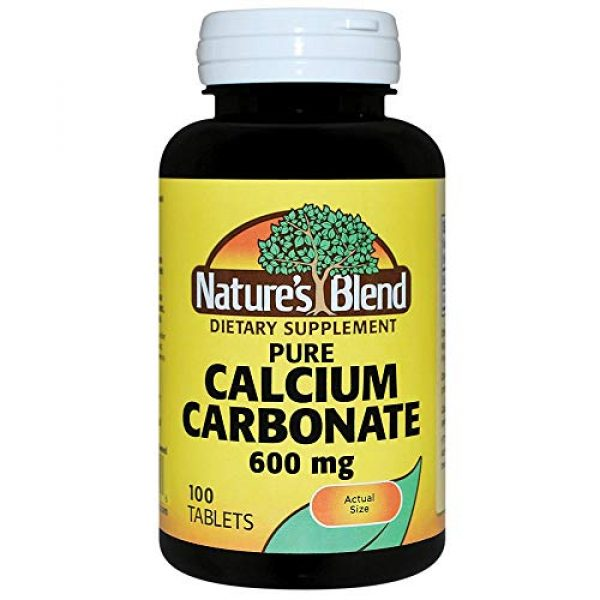 Nature's Blend Calcium Supplement 1 Nature's Blend Pure Calcium Carbonate 600 mg 100 Tabs
