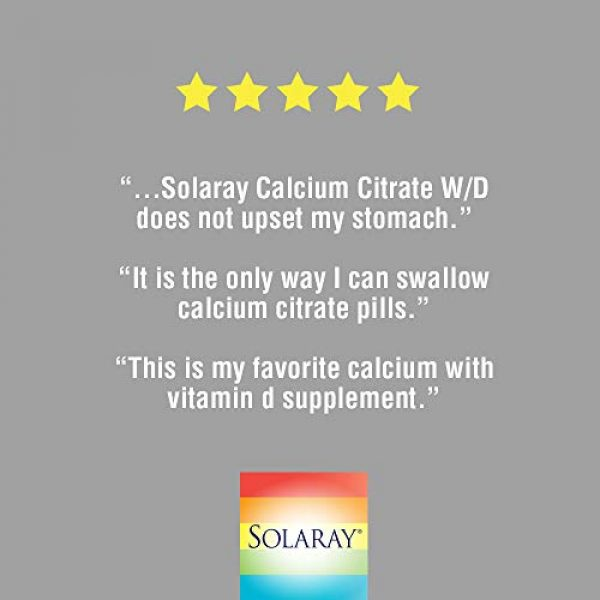 Solaray Calcium Supplement 5 Solaray Calcium Citrate with Vitamin D-3 1000mg | for Healthy Bones & Teeth, Cardiovascular, Muscle & Nerve Function | Enhanced Absorption | 180 Ct