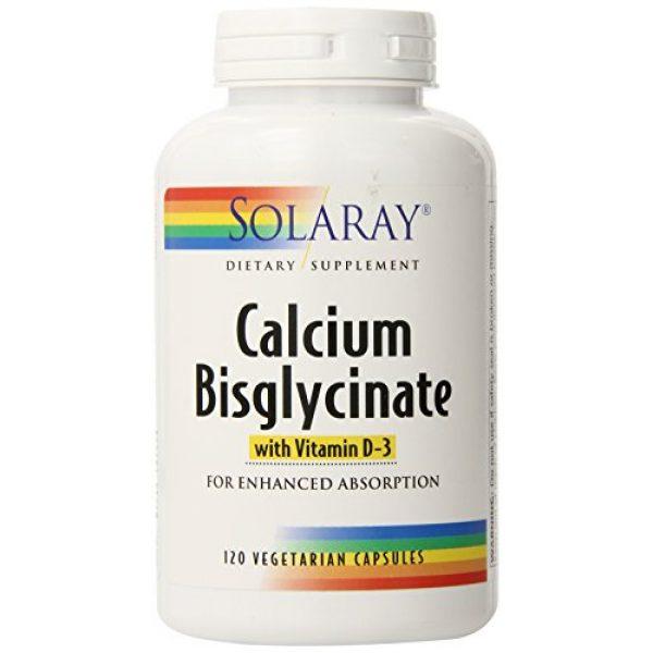 Solaray Calcium Supplement 1 Solaray Calcium w/ D3 Bisglycinate, Veg Cap (Btl-Plastic) 1000mg   120ct
