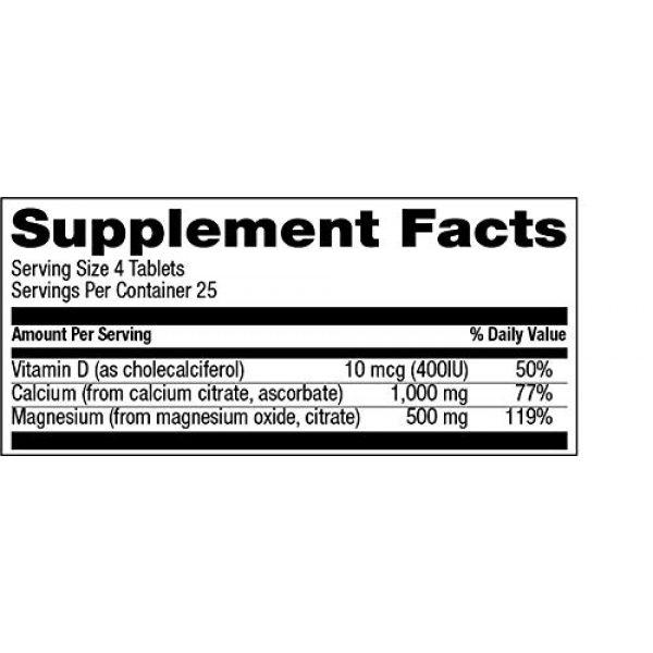 Natural Vitamin Co. Calcium Supplement 4 Natural Vitamin Co. - Cal-Mag Citrate Complex with Vitamin D3, Calcium 1000 mg, Magnesium 500 mg, Vitamin D3 400 IU, 100 Tablets, 1 Month Supply, Gluten Free, Vegetarian (100)