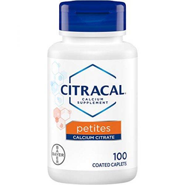 CITRACAL Calcium Supplement 1 Citracal Petites Tablets with Vitamin D 100 Tablets (Pack of 3)
