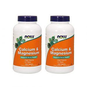 NOW Foods Calcium Supplement 1 Now Foods Calcium & Magnesium, 250 Tablets (Pack of 2)